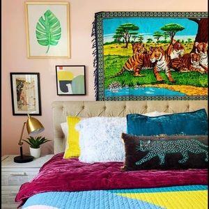 Large Vintage Tiger Tapestry